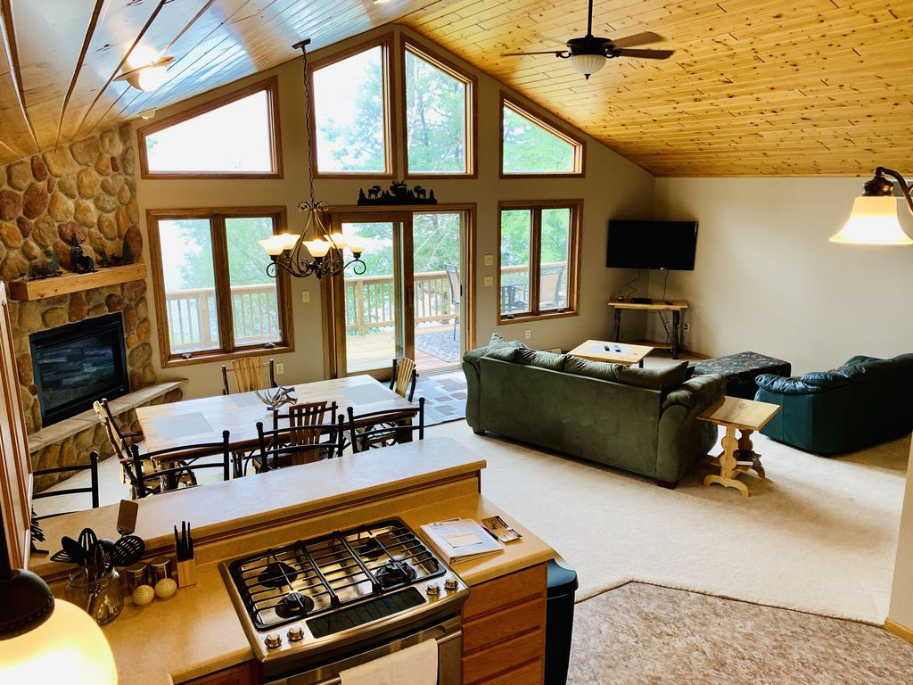 Open living/dining/kitchen.